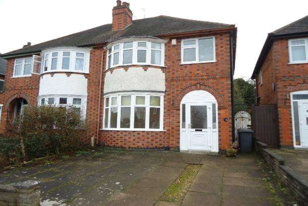 3 Bedrooms Semi Detached House for sale in Ainsdale Road, Western Park, Leicester, LE3