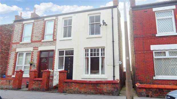 3 Bedrooms Semi Detached House for sale in Vicarage Road, Cale Green, Stockport, Cheshire