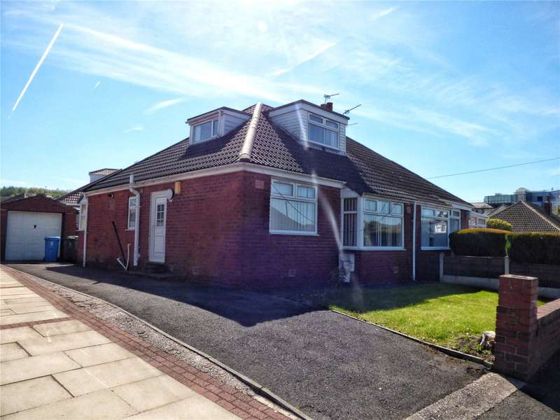 2 Bedrooms Semi Detached Bungalow for sale in Cumberland Drive, Royton, Oldham, Greater Manchester, OL2