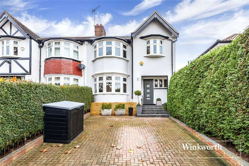 4 Bedrooms Semi Detached House for sale in Beechwood Avenue, Finchley, London, N3