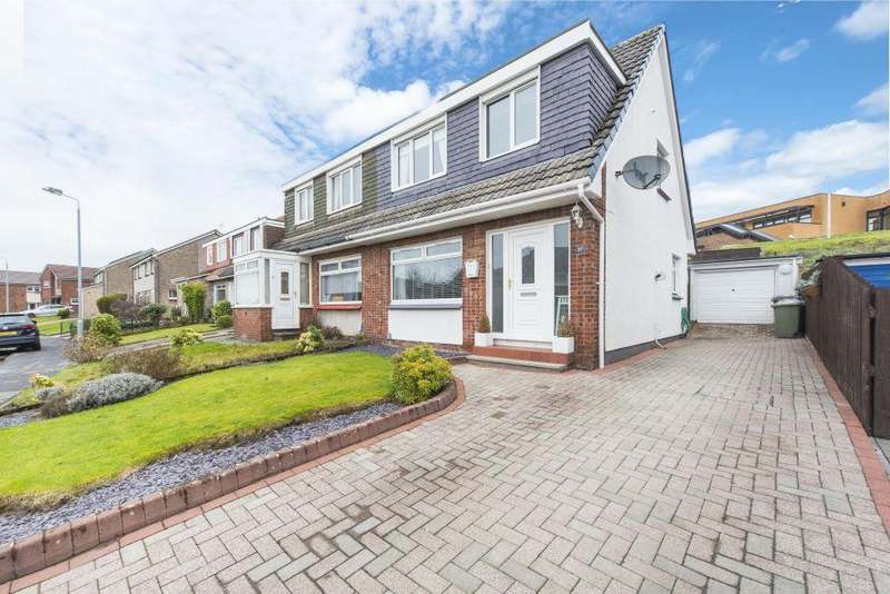3 Bedrooms Semi Detached House for sale in 27 Thrums Avenue, Bishopbriggs, Glasgow, G64 1ER