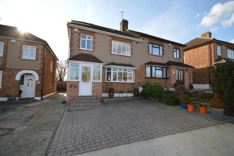 4 Bedrooms Semi Detached House for sale in Hacton Drive, Hornchurch, Essex, RM12