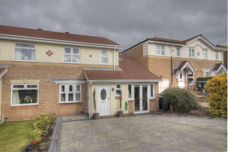 5 Bedrooms Semi Detached House for sale in Dere Park, Leadgate, Consett, DH8