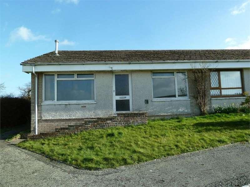 2 Bedrooms Terraced Bungalow for sale in 36 Felin Ban Estate, Cardigan, Ceredigion