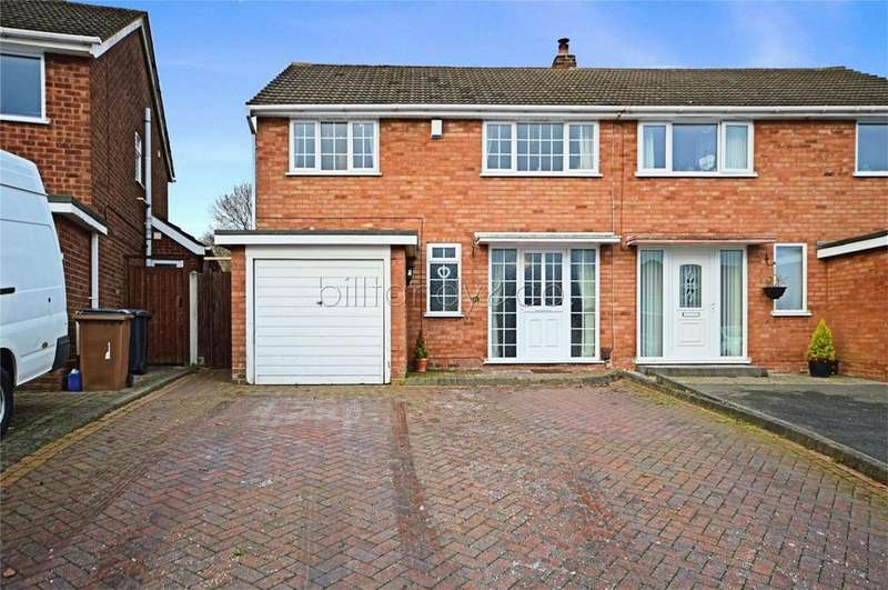 3 Bedrooms Semi Detached House for sale in Tudor Road, Burntwood, Staffordshire