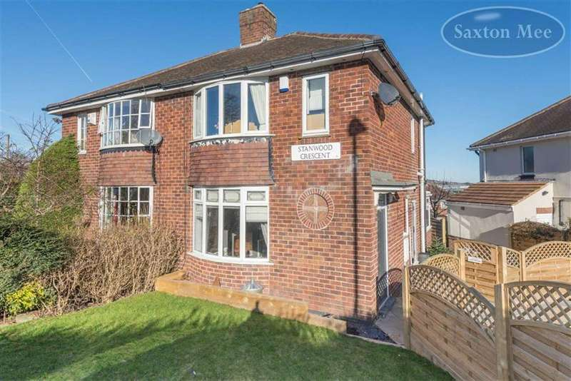 3 Bedrooms Semi Detached House for sale in Stanwood Crescent, Stannington, Sheffield, S6