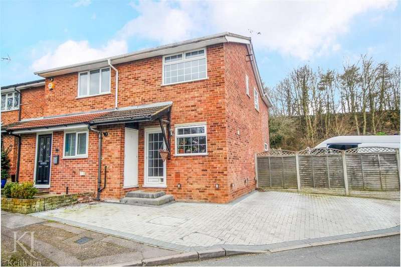 3 Bedrooms Semi Detached House for sale in Extended with Driveway, Wheatsheaf Drive, Ware