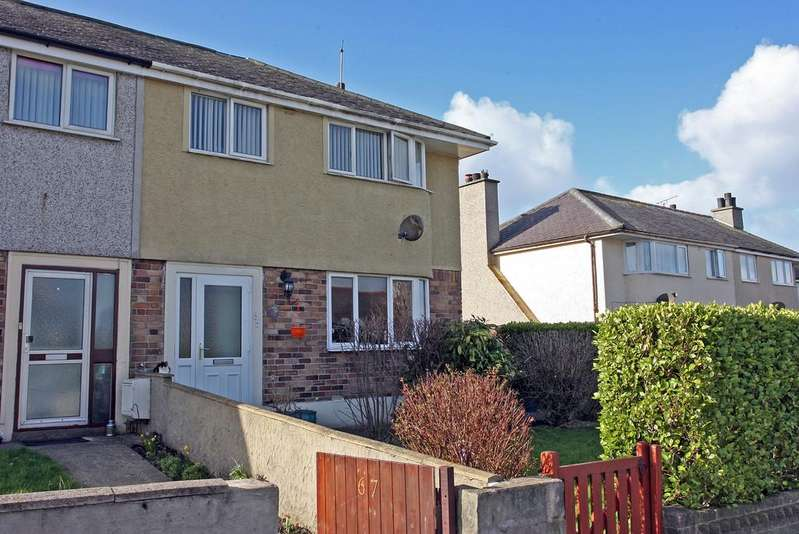 3 Bedrooms Semi Detached House for sale in Maes Llwyn, Amlwch, North Wales