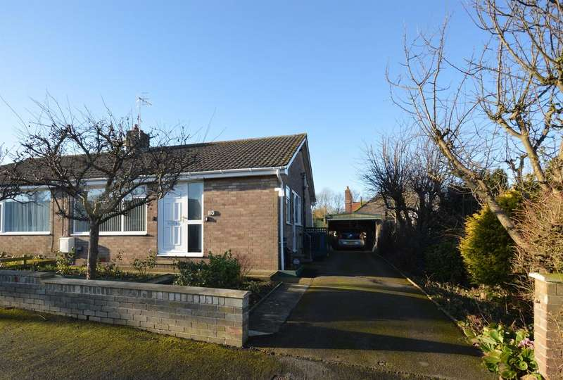 2 Bedrooms Semi Detached Bungalow for rent in Manor Gardens, Hunmanby, Filey, YO14 0PT