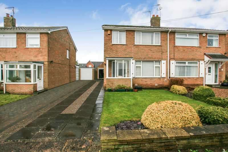 3 Bedrooms Semi Detached House for sale in Longcroft Road, Dronfield Woodhouse, Derbyshire