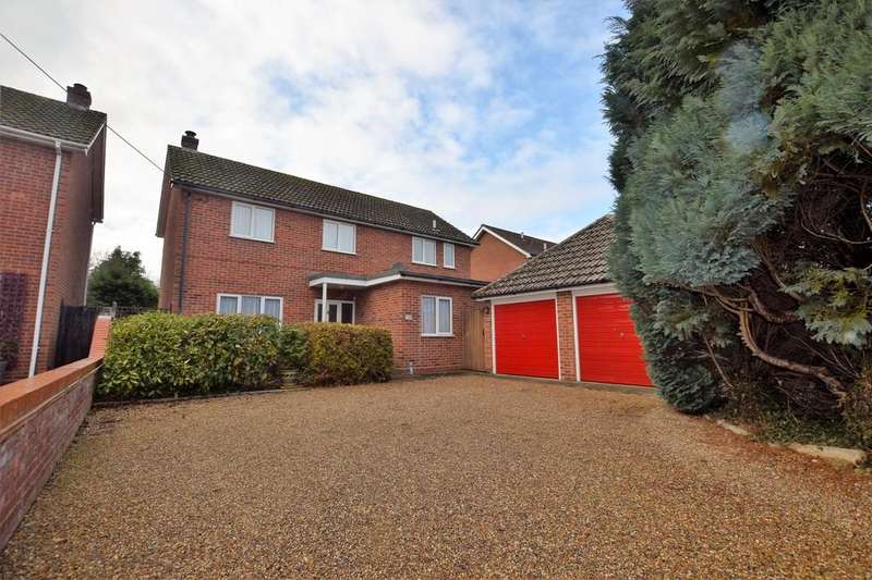 4 Bedrooms Detached House for sale in Bures Road, Great Cornard, CO10 0JQ