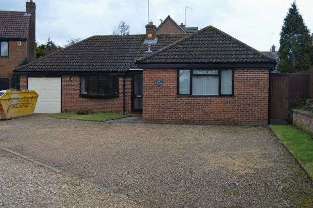 3 Bedrooms Detached Bungalow for rent in Homestead Close, Moulton, Northampton NN3 7RG