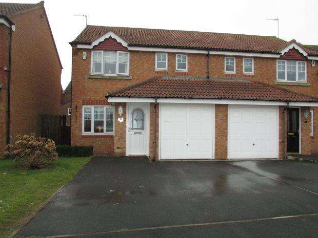 3 Bedrooms Semi Detached House for sale in CORNFLOWER CLOSE, BISHOP CUTHBERT, HARTLEPOOL