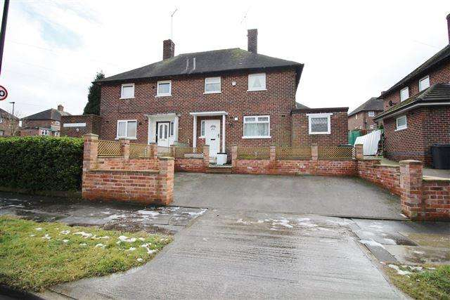 3 Bedrooms Semi Detached House for sale in Smelterwood Avenue, Stradbroke, Sheffield, S13 8RB