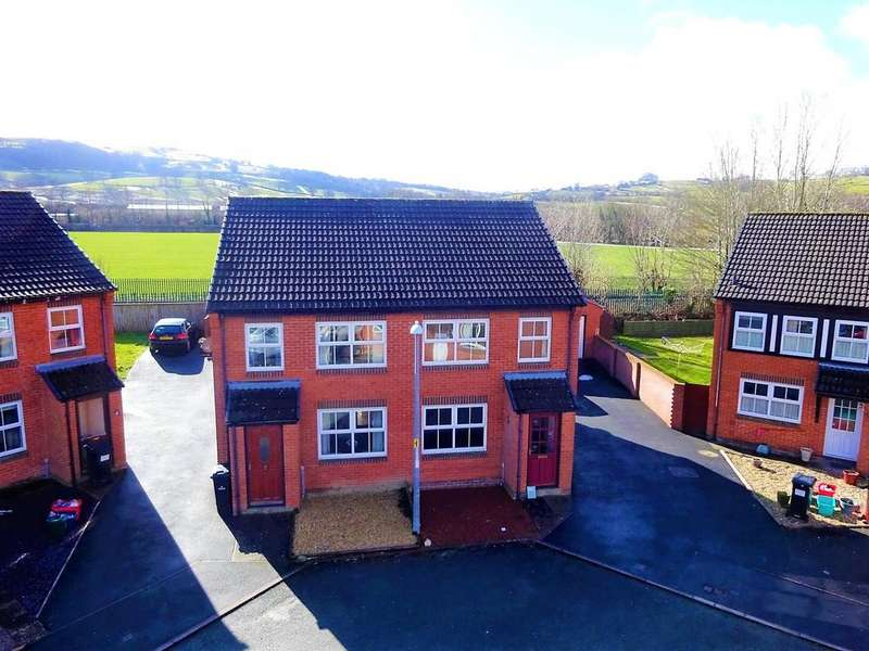 3 Bedrooms Semi Detached House for sale in Clos Glandwr, Newtown, Powys
