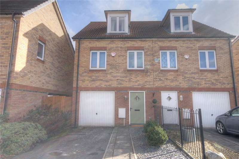 3 Bedrooms Semi Detached House for sale in Hawkshead Place, Newton Aycliffe, County Durham, DL5