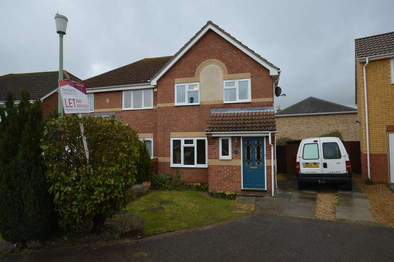 3 Bedrooms Semi Detached House for rent in Calthorpe Close, Bury St Edmunds
