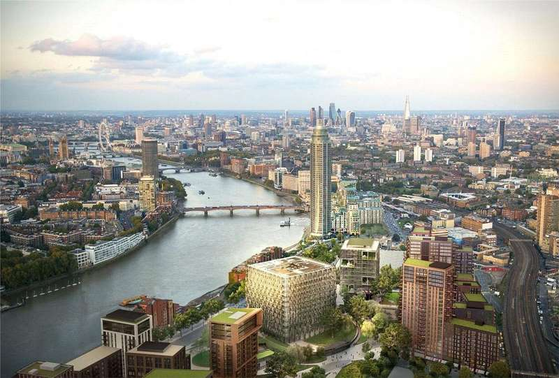 1 Bedroom Flat for sale in Embassy Gardens, Ponton Road, Nine Elms, Vauxhall, London, SW8