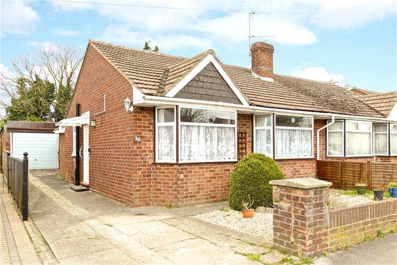 2 Bedrooms Semi Detached Bungalow for sale in Linford Avenue, Newport Pagnell, Buckinghamshire