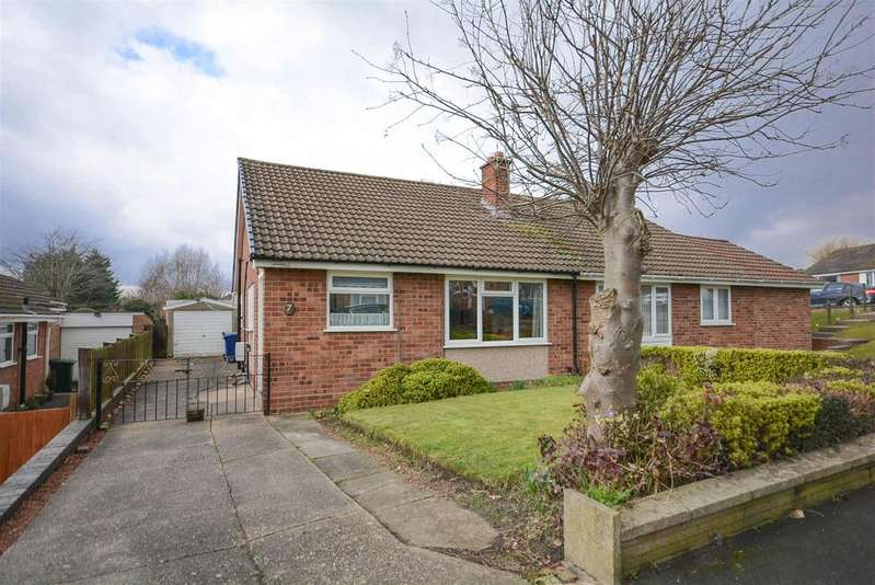 2 Bedrooms Semi Detached Bungalow for sale in Rowan Drive, Keyworth, Nottingham