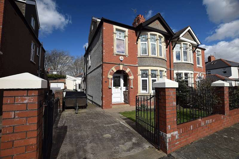5 Bedrooms Semi Detached House for sale in St. Albans Avenue, Heath, Cardiff. CF14 4AS