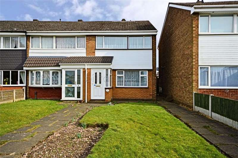 3 Bedrooms End Of Terrace House for sale in Springhill Road, Burntwood, Staffordshire
