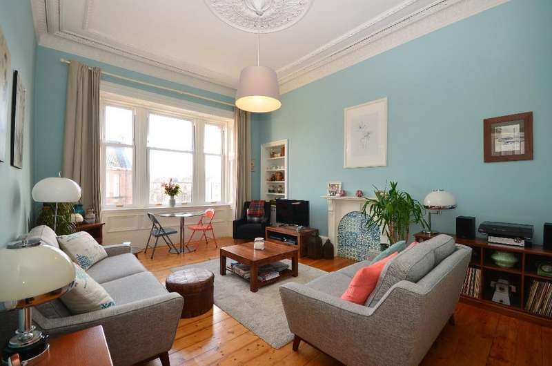 2 Bedrooms Flat for sale in Carrington Street, Flat 3/2, Woodlands, Glasgow, G4 9AL