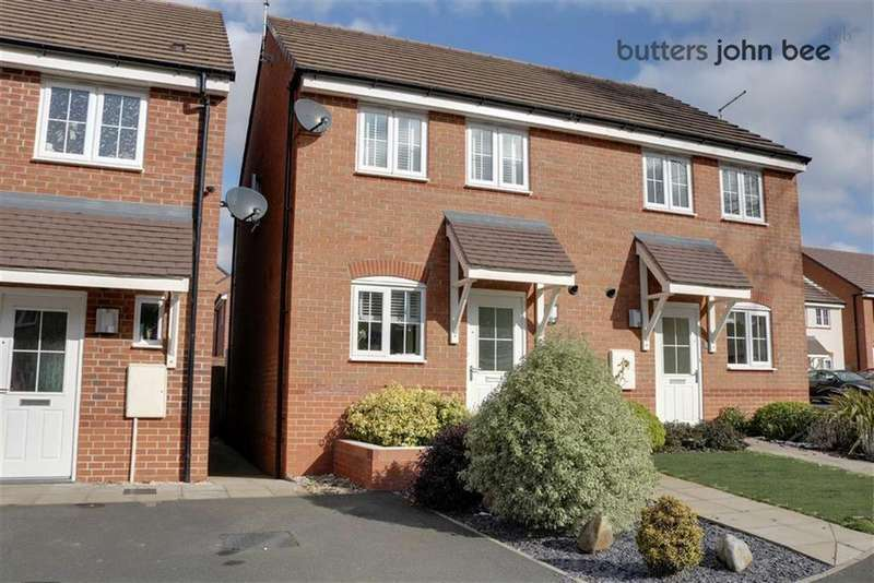 2 Bedrooms Semi Detached House for sale in Hollingworth Close, Yarnfield, Staffordshire