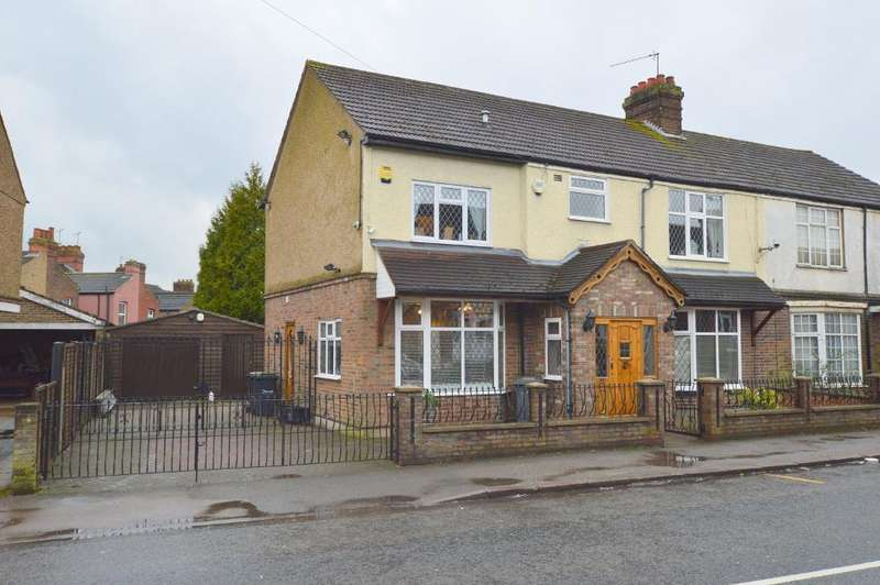 4 Bedrooms Semi Detached House for sale in Stockingstone Road, Round Green, Luton, LU2 7ND
