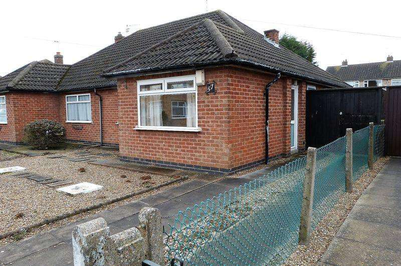 2 Bedrooms Semi Detached Bungalow for sale in Willow Road, Blaby, Leicestershire