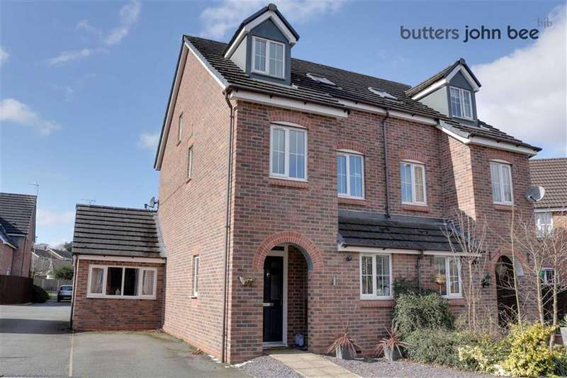 3 Bedrooms Semi Detached House for sale in Beacon Grove, Stone, Staffordshire