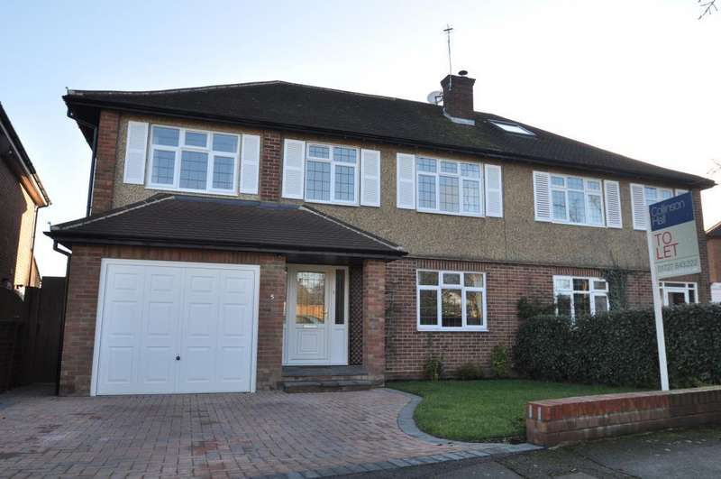 4 Bedrooms Semi Detached House for rent in Middlefield Close, St. Albans, Hertfordshire