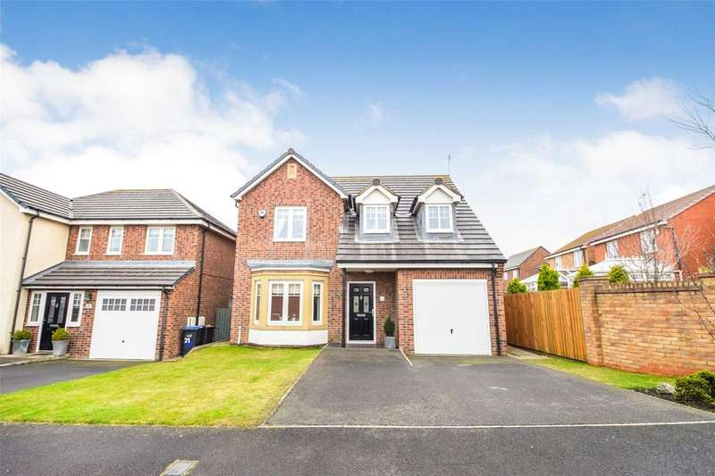 4 Bedrooms Detached House for sale in Runswick Drive, East Shore Village, Seaham, Co Durham, SR7