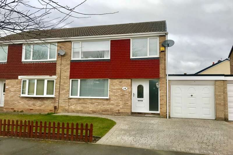 3 Bedrooms Semi Detached House for sale in Axminster Road, Hemlington, Middlesbrough, TS8