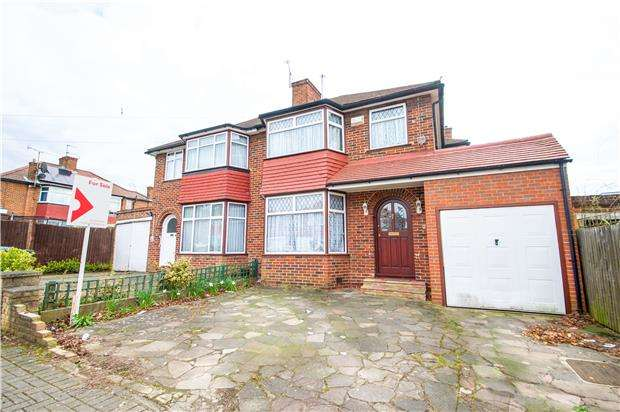 3 Bedrooms Semi Detached House for sale in Dryburgh Gardens, KINGSBURY, NW9 9TY