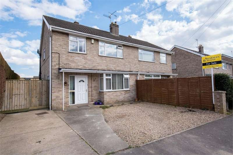 3 Bedrooms Semi Detached House for sale in Margaret Drive, Boston, Lincolnshire