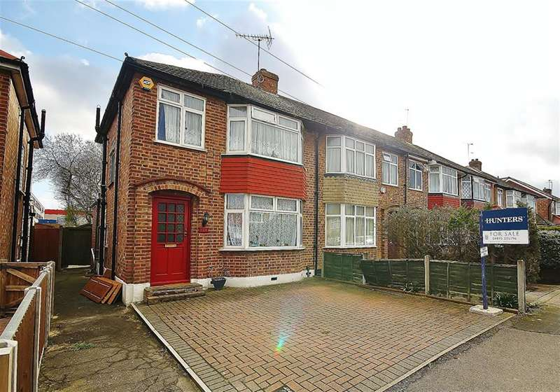 3 Bedrooms End Of Terrace House for sale in Sutton Court Road, Hillingdon, Middlesex, UB10 9HT