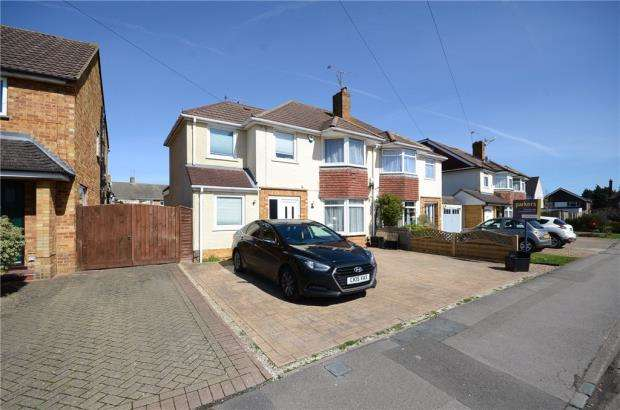 4 Bedrooms Semi Detached House for sale in Haddon Drive, Woodley, Reading
