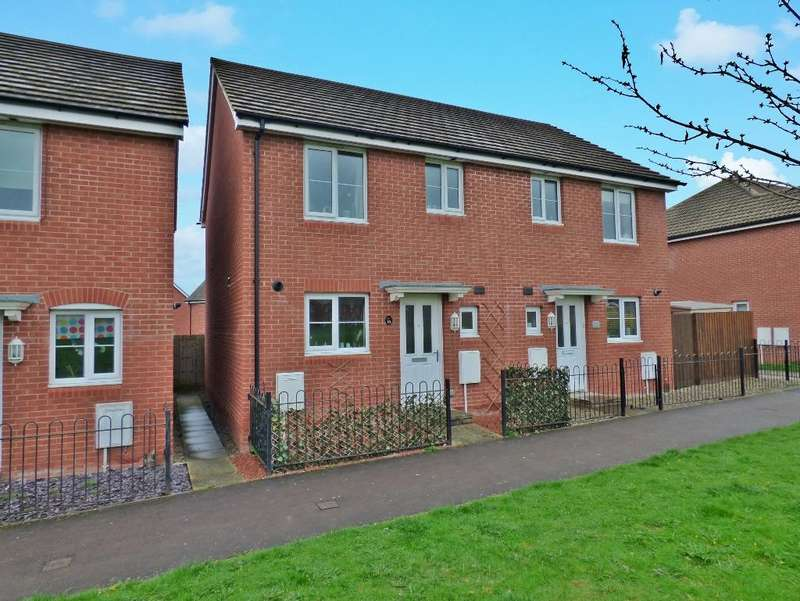 3 Bedrooms Semi Detached House for sale in Bluebell Walk, Saxon Gate, Hereford