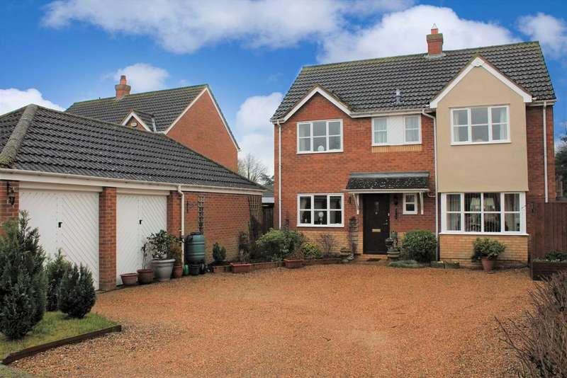 4 Bedrooms Detached House for sale in Bickerdikes Gardens, Sandy, SG19