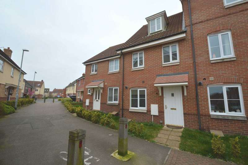3 Bedrooms Terraced House for sale in Dunnock Drive, Queens Hill, Norwich