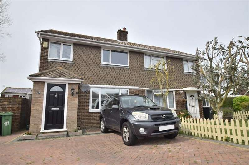 3 Bedrooms Semi Detached House for sale in Gainsborough Crescent, Langney, East Sussex