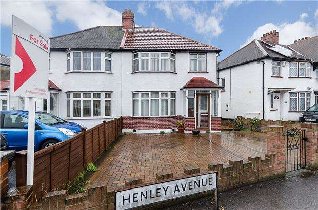 3 Bedrooms Semi Detached House for sale in Henley Avenue, North Cheam , Surrey, SM3 9SE
