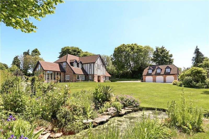 5 Bedrooms Detached House for sale in Pickaxe Lane, South Warnborough, Hook, Hampshire, RG29