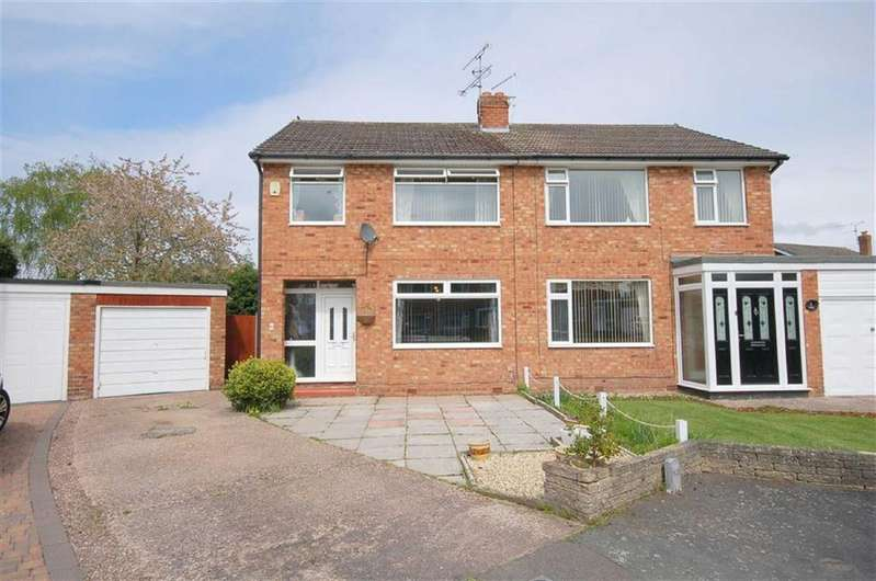 3 Bedrooms Semi Detached House for sale in Arundel Close, Wistaston