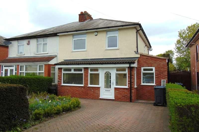 3 Bedrooms Semi Detached House for sale in Yardley Fields Road, Stechford, Birmingham, B33