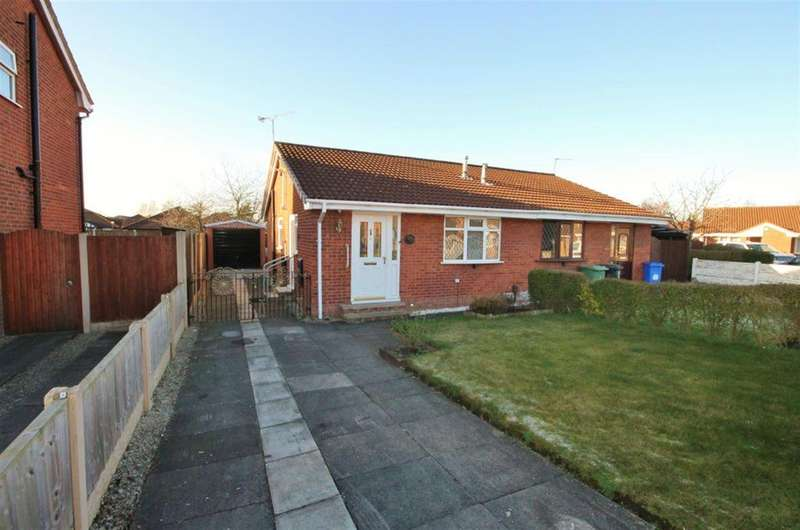 2 Bedrooms Semi Detached Bungalow for sale in Tiverton Close, Widnes, WA8 4SL