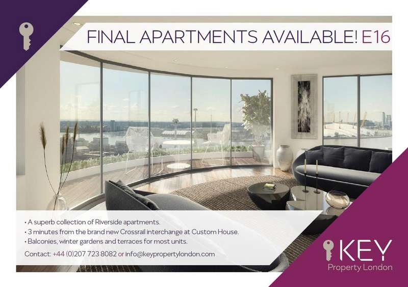 2 Bedrooms Apartment Flat for sale in Tidal Basin Road, London E16