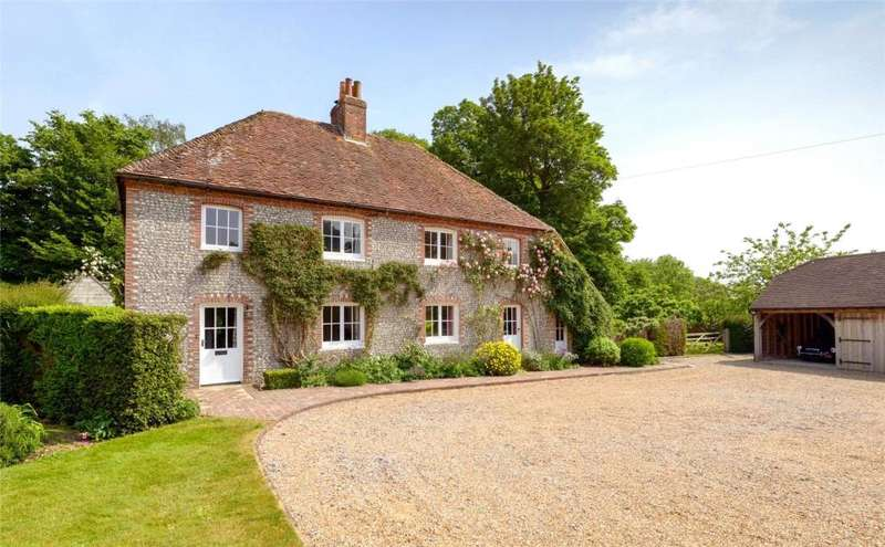 4 Bedrooms Detached House for sale in Adsdean, Adsdean, Chichester, West Sussex, PO18