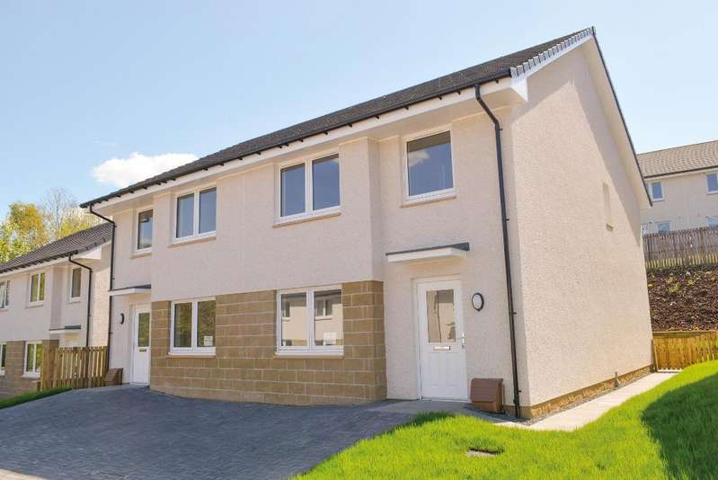 4 Bedrooms Semi Detached House for sale in 7 Dunmoss View, Coalsnaughton, Stirling, FK13 6BF